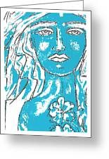 Blues Girl Greeting Card