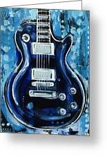 Blues Guitar Greeting Card