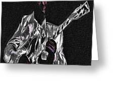 Blues In Silver Greeting Card