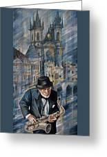 Blues Of Prague. Greeting Card