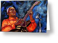 Blues Vibe Greeting Card