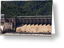 Bluestone West Virginia Dam Panorama Greeting Card
