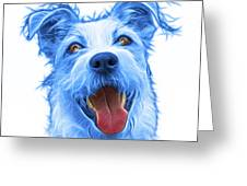 Blueterrier Mix 2989 - Wb Greeting Card