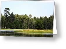 Bluff Lake Ca Island 5 Greeting Card