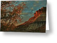 Bluffs Along The Saline River North Of Russell, Kansas. Greeting Card