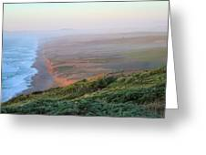 Bluffs And South Beach Point Reyes Greeting Card