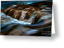 Blurred Cascades On The Autumn River Greeting Card