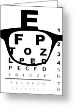 Blurry Eye Test Chart Greeting Card