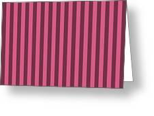 Blush Pink Striped Pattern Design Greeting Card
