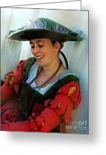 Blushing Bavarian Bridesmaid Greeting Card
