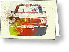 Bmw 2002 Front Watercolor 2 Greeting Card