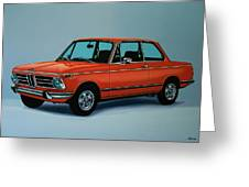 Bmw 2002 1968 Painting Greeting Card
