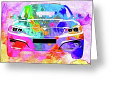 Bmw 3 Gran Turismo Greeting Card