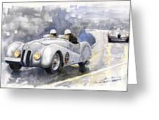 Bmw 328 Roadster Greeting Card