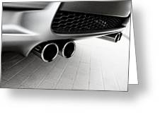 Bmw M3 Exhaust  Greeting Card by Aaron Berg