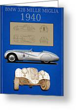 Bmw Mille Miglia Poster Greeting Card