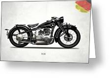 The R16 Motorcycle Greeting Card by Mark Rogan