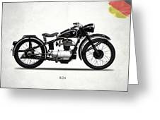 The R24 Motorcycle Greeting Card