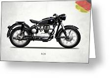 The R26 Motorcycle Greeting Card