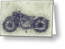 Bmw R32 - 1919 - Motorcycle Poster 1 - Automotive Art Greeting Card