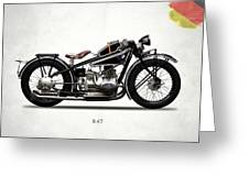 The R47 Motorcycle Greeting Card