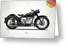 The R51 Motorcycle Greeting Card