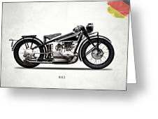 The R63 Motorcycle Greeting Card