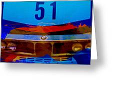 Bmw Racing Colors Greeting Card by Naxart Studio