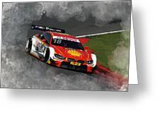B M W Racing Greeting Card