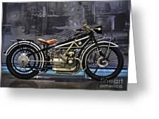 Bmw Vintage Motorcycle Greeting Card