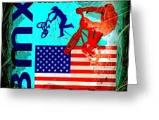 Bmx United States Greeting Card