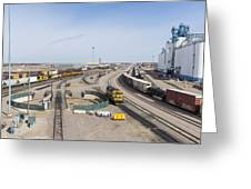 Bnsf Northtown Yard 4 Greeting Card