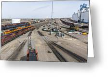Bnsf Northtown Yard 6 Greeting Card