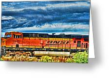 Bnsf Train Hdr Greeting Card