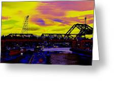Bnsf Trestle At Salmon Bay Greeting Card