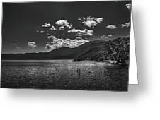 Bnw Lago De Coatepeque - El Salvador V Greeting Card