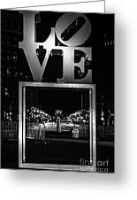 Bnw Philly Love 0218c Greeting Card