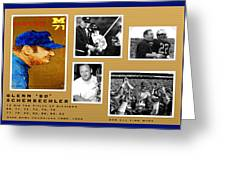 Bo Schembechler Legend Five Panel Greeting Card