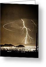 Bo Trek Lightning Art Greeting Card
