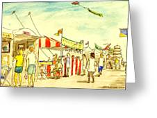 Boardwalk Artshow Virginia Beach Greeting Card