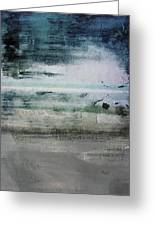 Boardwalk Blues 2- Art By Linda Woods Greeting Card