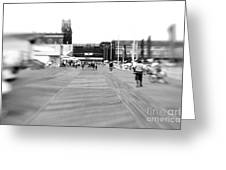 Boardwalk Blur Greeting Card