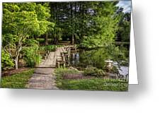Boardwalk Bridge Maymont Japanese Garden Greeting Card