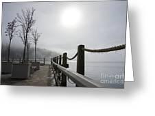 Boardwalk Dawn Greeting Card