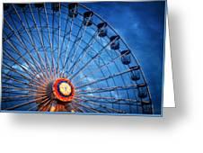 Boardwalk Ferris Wheel At Dusk Greeting Card