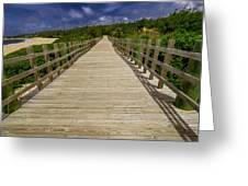 Boardwalk In Color Greeting Card