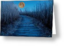 Boardwalk Moon Greeting Card
