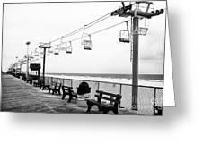 Boardwalk Ride Greeting Card by John Rizzuto