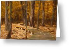 Boardwalk Through The Woods Greeting Card