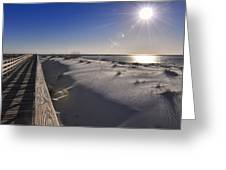 Boardwalk To The Gulf Greeting Card